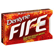 Dentyne Fire Sugar Free Spicy Cinnamon Split 2 Fit Pack Gum