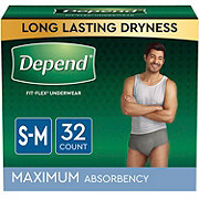 Depend FIT-FLEX Underwear for Men, S/M