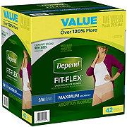 Depend FIT-FLEX Underwear for Women, S/M
