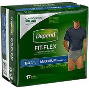 Depend For Men Maximum Absorbency Underwear, 17 ct