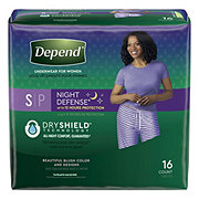 Depend Night Defense Overnight Women's Small