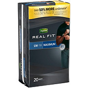 Depend Real Fit Underwear for Men, S/M