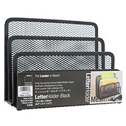 Design Ideas Letter Holder Mesh Black