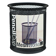 Design Ideas Pencil Cup Mesh Black
