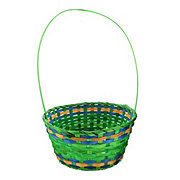 Destination Holiday Medium Bamboo Basket, Assorted Colors