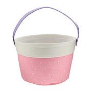 Destination Holiday Pink Canvas Medium Basket