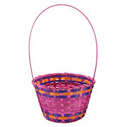 Destination Holiday Small Bamboo Basket, Assorted Colors