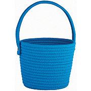 Destination Holiday Round Cotton Rope Basket Royal