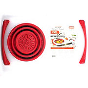 Dexas Red 11.5x20 in Over the Sink Strainer & Cutting Board
