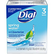 Dial Spring Water Antibacterial Deodorant Bar Soap 3 ct