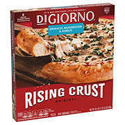 DiGiorno Rising Crust Spinach Mushroom and Garlic Pizza