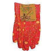 Digz Brand Womens Dot Canvas Gloves, Medium Size