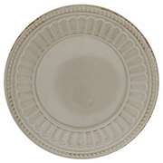 Dining Style Beaded 11 Inch Gray Plate