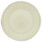 Dining Style Beaded 11 Inch Ivory Plate