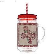 Dining Style Christmas Lone Star Arc Mason Jar Tumbler, Red