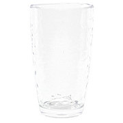 Dining Style Clear Hammered Tumbler