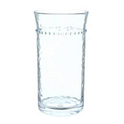 Dining Style Clear Hobnail Hammered Highball Tumbler