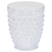 Dining Style Clear Hobnail Tumbler