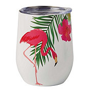 Dining Style Stainless Steel Flamingo Stemless