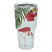 Dining Style Stainless Steel Flamingo Tumbler