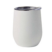 Dining Style Stainless Steel Soft White  Stemless