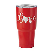 Dining Style Stainless Steel Texas Love Tumbler Red