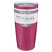 Dining Style Stainless Steel Tumbler Hot Pink