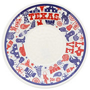 Dining Style Vintage Texas Print Large Serving Bowl