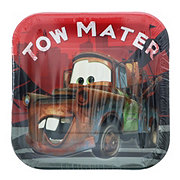 Disney Cars Square Plate, 7 inch