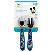 Disney The First Years Mickey Mouse Fork & Spoon