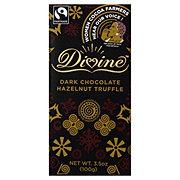 Divine Dark Chocolate Hazelnut Truffle Bar