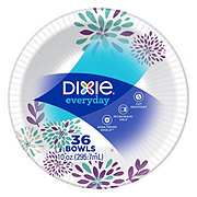 Dixie Everyday Printed Paper Bowls, 10 oz