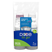 Dixie To Go Printed Paper Cups and Lids, 12 oz