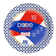 Dixie Ultra Printed Paper Plates, 10-1/16 inch