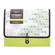 Doc It 13 Pocket Expanding File Market Tile Collection, Assorted