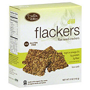 Doctor In The Kitchen Flackers Dill Flax Seed Crackers