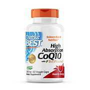 Doctor's Best High Absorption CoQ10 With Bioperine 200 mg Veggie Caps