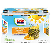 Dole 100% Pineapple Orange Juice 6 oz Cans