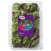 Dole 50/50 Spring Mix And Baby Spinach Clamshell