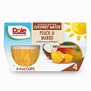 Dole Coconut Water Fruit Cups Peach and Mango