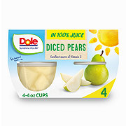 Dole Diced Pears In 100% Fruit Juice