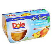 Dole No Sugar Added Diced Peaches Sweetened with Monk Fruit Concentrate