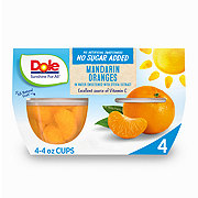 Dole No Sugar Added Mandarin Oranges Sweetened with Monk Fruit Concentrate