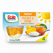 Dole Peaches and Creme Parfait