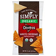 Doritos Simply Organic White Cheddar Flavored Tortilla Chips