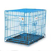 "Doskocil Aspen Pet Puppy 2 Door Wire Kennel Blue 24""X17""X20"""