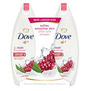 Dove go fresh Pomegranate and Lemon Verbena Body Wash Twin Pack