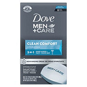 Dove Men+Care Clean Comfort Body and Face Bar 6 pk