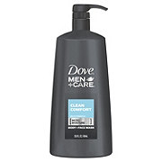 Dove Men+Care Clean Comfort Body Wash Pump
