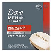 Dove Men+Care Deep Clean Body and Face Bar 10 pk